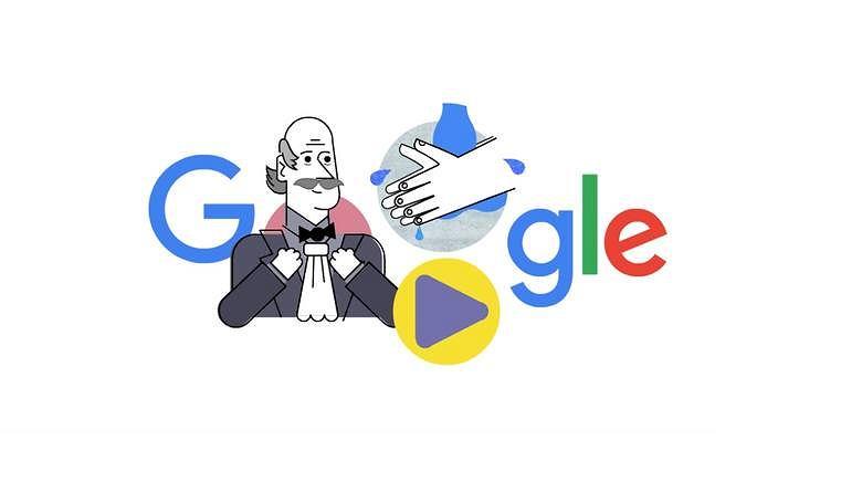 Ignaz Semmelweis w Google Doodle.