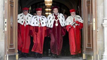 Obchody stulecia uniwersytetu w Poznaniu. Od lewej: rektor AWF Dariusz Wieliński, rektor UP Jan Pikul, rektor UM Andrzej Tykarski, rektor UAM Andrzej Lesicki