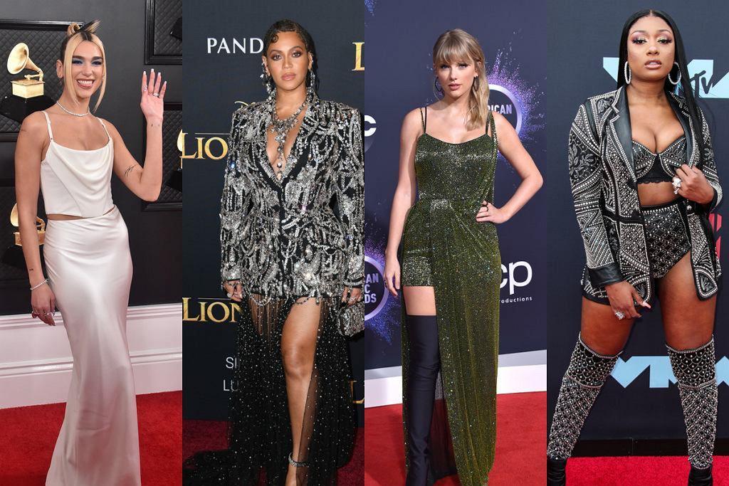 Dua Lipa, Beyonce, Taylor Swift, Megan Thee Stallon
