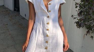 sukienka lniana