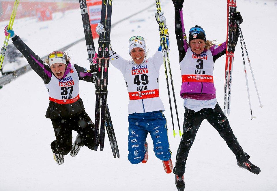 Zdjęcie numer 0 w galerii - Narciarskie MŚ w Falun. Piękna radość Kalli i Diggins, klęska Norweżek na 10 km [NAJLEPSZE ZDJĘCIA]