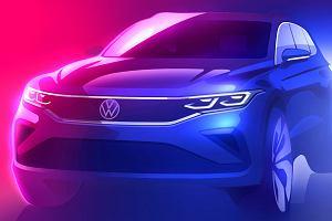 Odświeżony Volkswagen Tiguan już za chwilę. Na razie producent drażni szkicami, ale znamy szczegóły