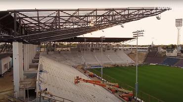 Trwa przebudowa kolejnego polskiego stadionu. Imponujący postęp prac