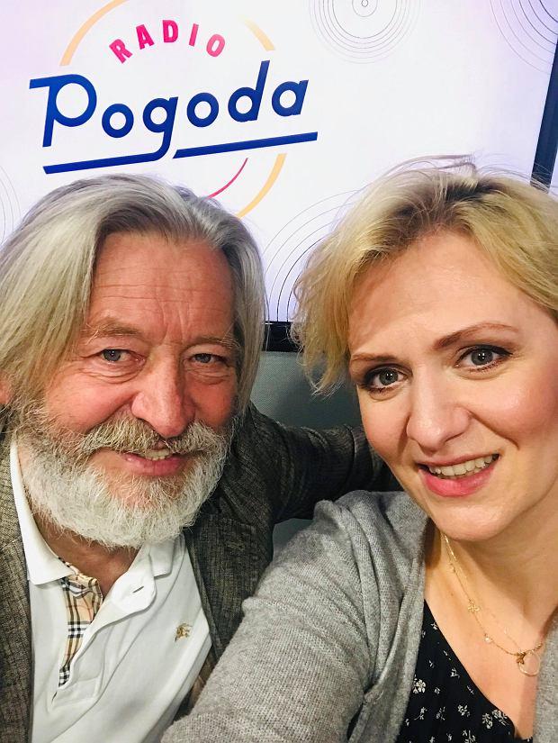 Aktor Stanisław Banasiuk i dziennikarka Radia Pogoda Anna Stachowska