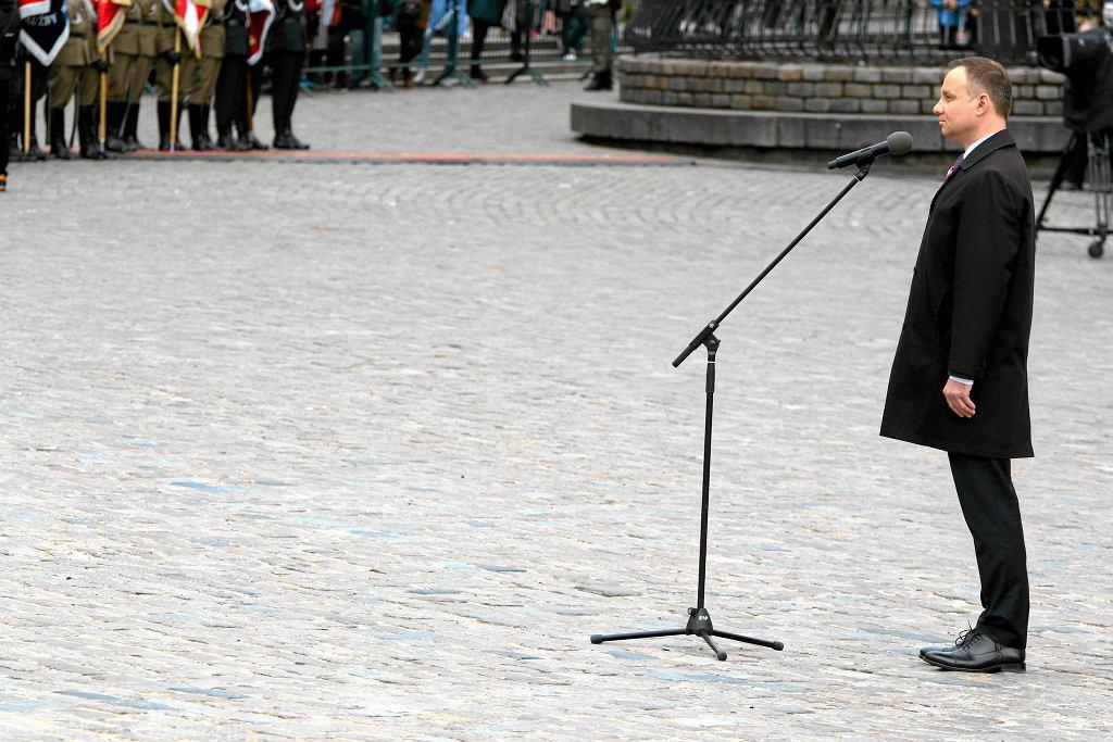 Prezydent RP Andrzej Duda podczas obchodów 226. rocznicy podpisania Konstytucji 3 Maja. PiS chce zmienić konstytucję...