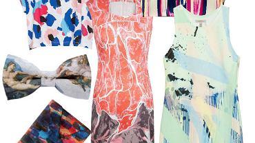 Malarskie wzory na ubraniach i dodatkach