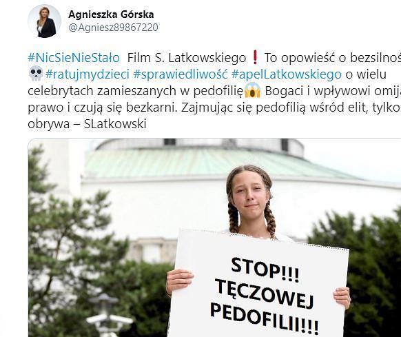 Posłanka PiS grzmi o 'tęczowej pedofilii' posługując się fotomontażem