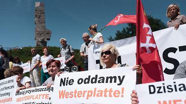 29 czerwca 2019 r., demonstracja 'Gdańsk broni Westerplatte'