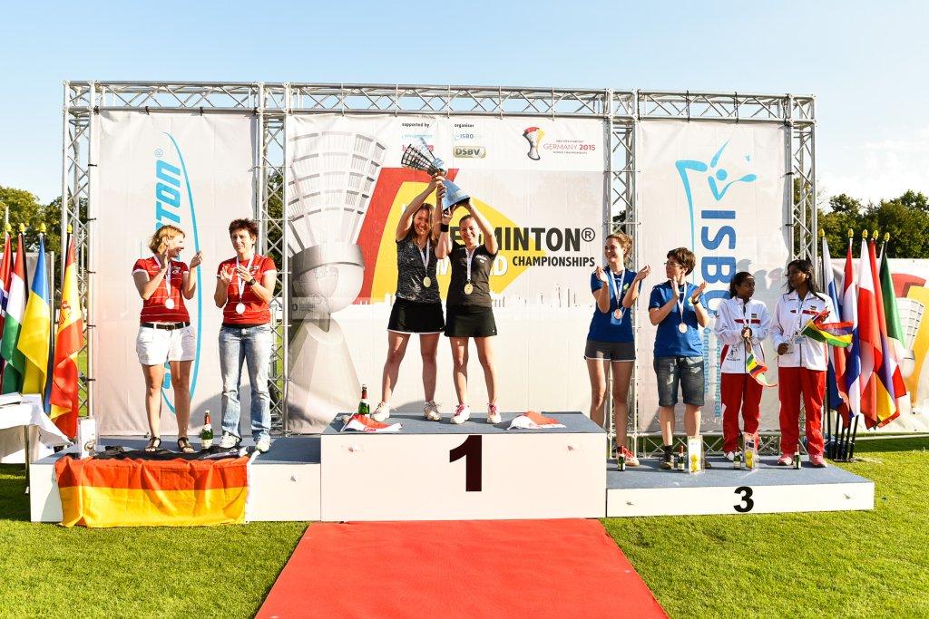 Janina Karasek i Marta Sołtys zdobyły w niedzielę złoty medal mistrzostw świata w speed badmintonie