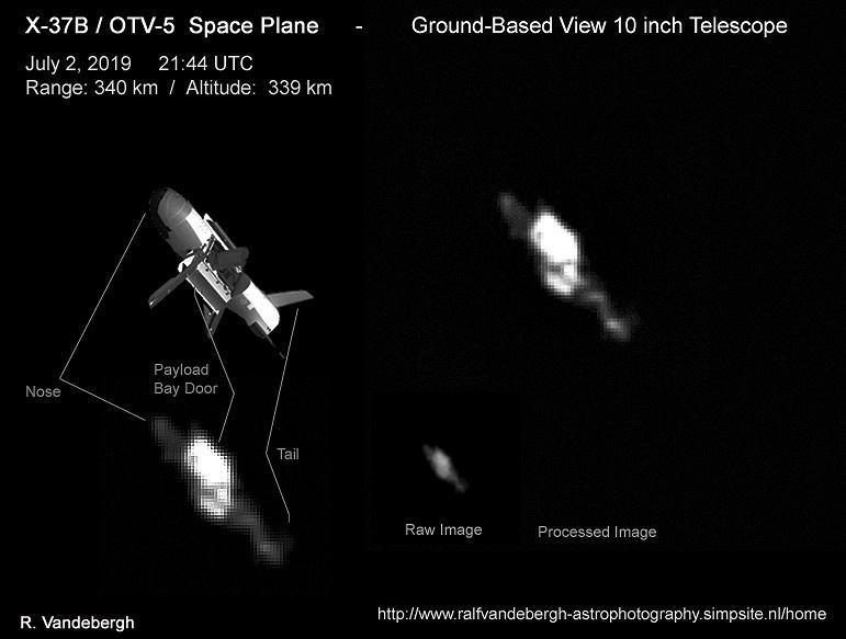 Uchwycony przez Ralfa Vandebergha amerykański samolot kosmiczny X-37B