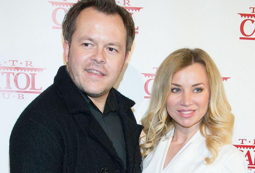 Lidia Kopania z mężem