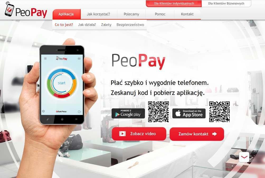 PeoPay, aplikacja do płacenia za pomocą telefonu