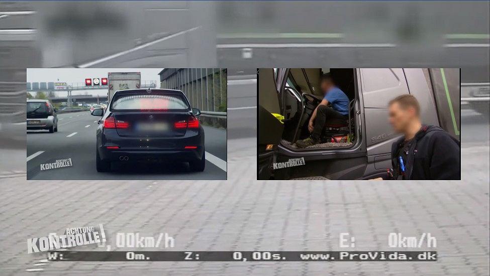 Kontrola drogowa polskiego tirowca w Niemczech