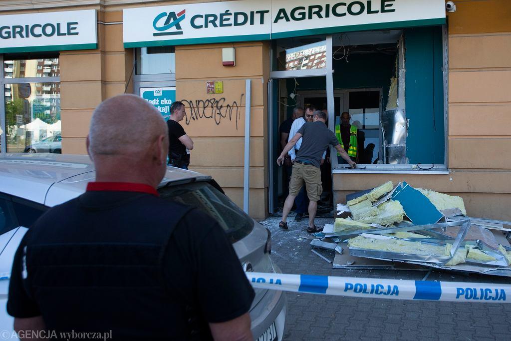 Wrocław. Bank, w którym doszło do wybuchu