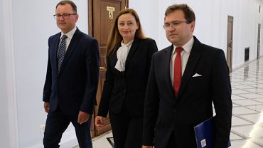 Założyciele koła 'Wybór Polska': Arkadiusz Czartoryski, Małgorzata Janowska, Zbigniew Girzyński