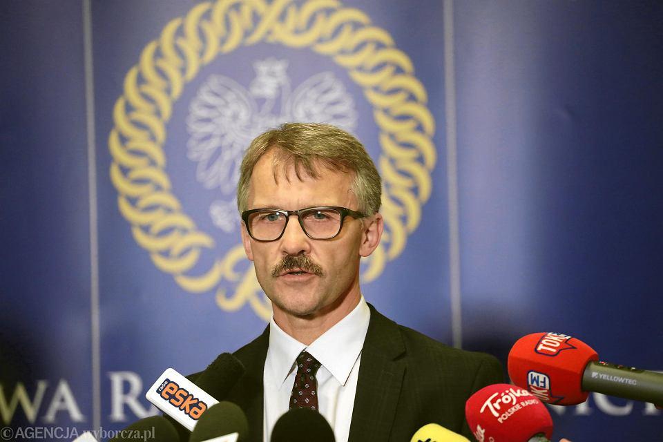 Przwodniczący KRS Leszek Mazur.