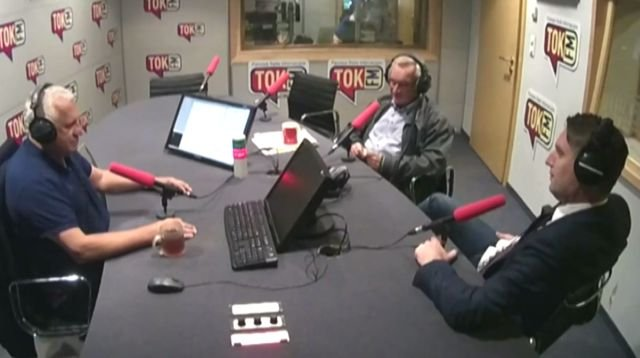 Wiesław Władyka, Tomasz Wołek i Tomasz Lis w Poranku Radia TOK FM