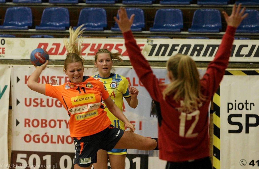 Agnieszka Małecka podczas meczu Korona Handball - MTS Kwidzyn
