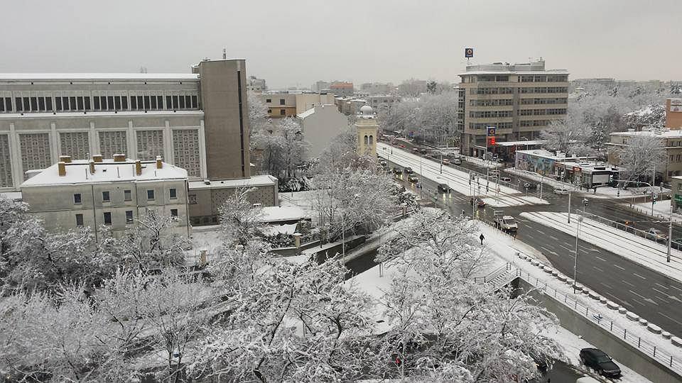 Śnieg w Warszawie