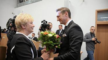 Przewodnicząca sejmiku Maria Ilnicka-Mądry i marszałek Olgierd Geblewicz