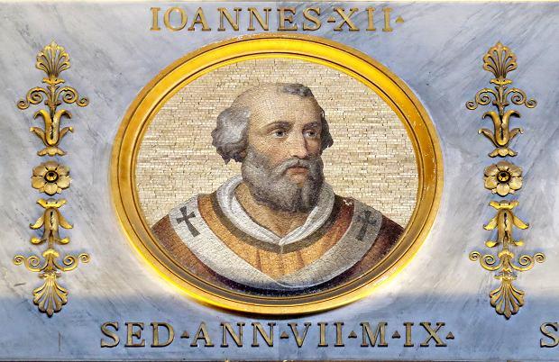 Wizerunek papież Jana XII na Bazylice św. Pawła za Murami w Rzymie.