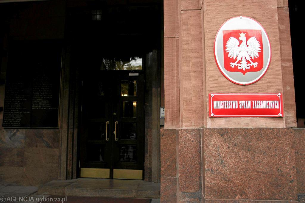 Siedziba Ministerstwa Spraw Zagranicznych.