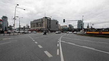 Widok na plac Zawiszy w Warszawie