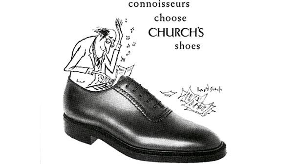 Church's: buty dla dżentelmena, buty, moda męska, logo z klasą, Reklama Church's
