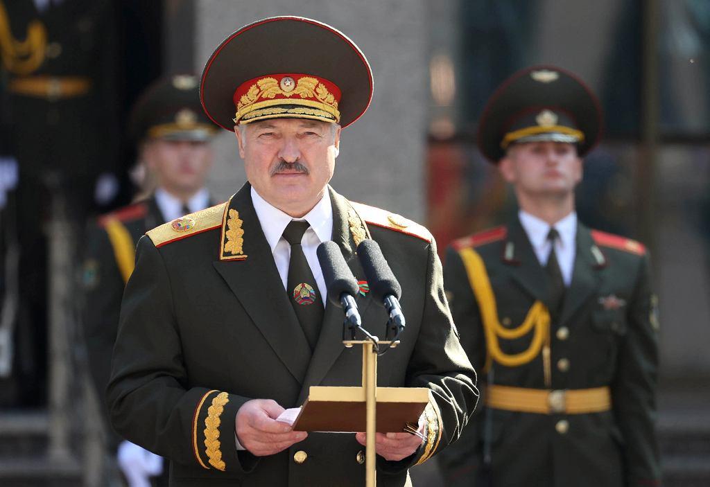 23.09.2020, Mińsk, Aleksander Łukaszenka podczas inauguracji.