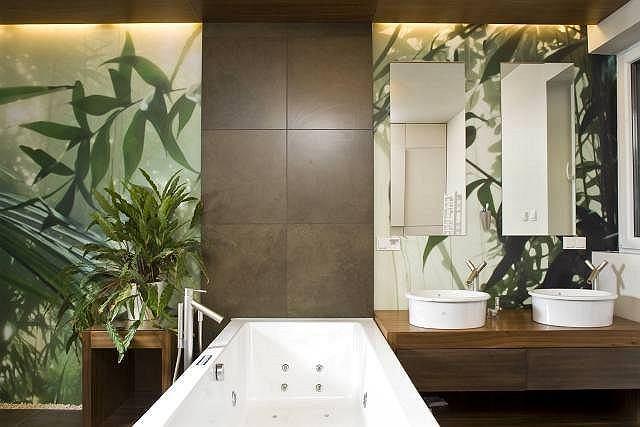 Łazienka z motywem zieleni