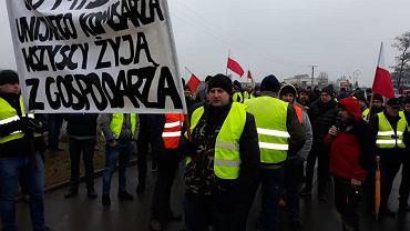 Protest rolników na S8