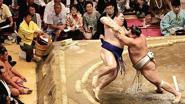 Zapaśnicy sumo w Tokyo Ryogoku Kokugikan. Kobieta nie może znaleźć się w ringu, to jedna z zasad obowiązująca dotychczas w sumo