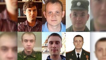 Zdjęcia sześciu oskarżonych oficerów GRU, opublikowane przez Amerykanów