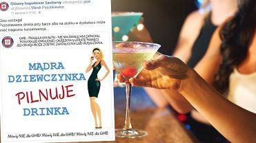 Slogan GIS-u o 'mądrej dziewczynce pilnującej drinka' wielu osobom - delikatnie mówiąc - się nie spodobał