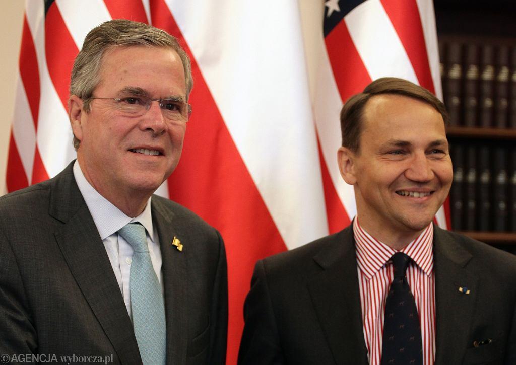 Jeb Bush i Radosław Sikorski