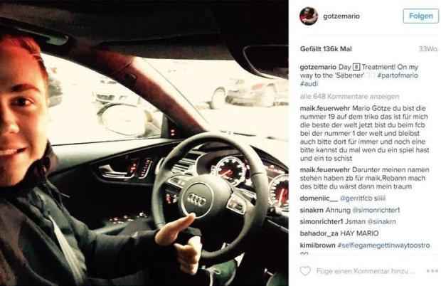 Instagram Mario Goetze