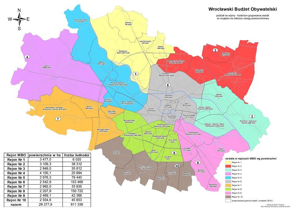 Jak Podzielic Wroclaw Na Rejony Sa Propozycje Mapy Zdjecie Nr 5