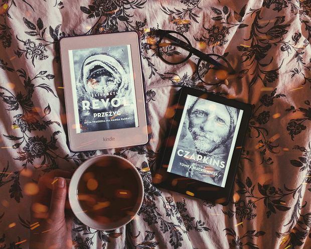 Książki 'Przeżyć. Moja tragedia na Nanga Parbat' Élisabeth Revol i 'Czapkins. Historia Tomka Mackiewicza' w formie e-booków.
