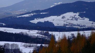 Luboń Wielki - widok z polany Cyrla