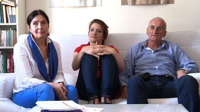 Agnieszka Ziółkowska z rodzicami Marią i Adamem