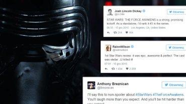 """Po premierze w Hollywood jest embargo na recenzje. Ale fani ocenili już nowe """"Gwiezdne wojny"""" na Twitterze!"""