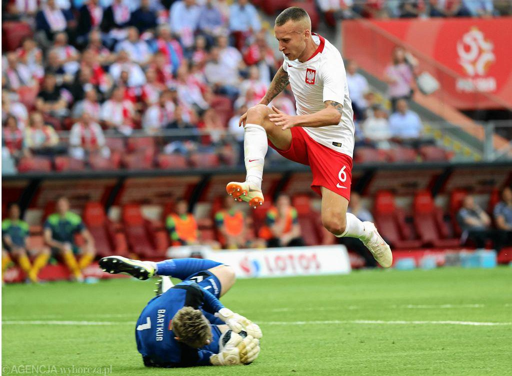 Jacek Góralski w sparingu z Litwą