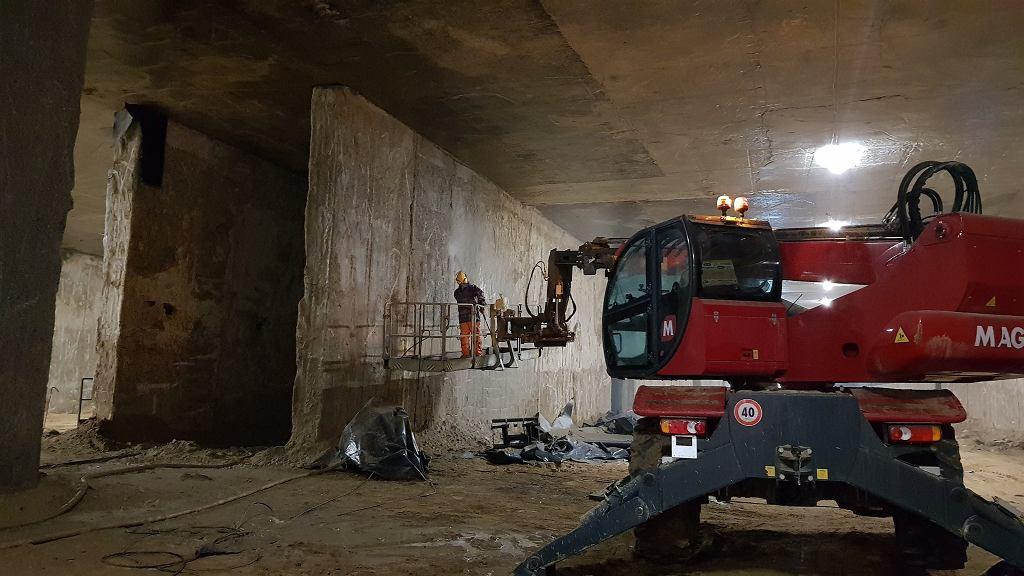 Budowa tunelu pod Ursynowem w ramach Południowej Obwodnicy Warszawy.
