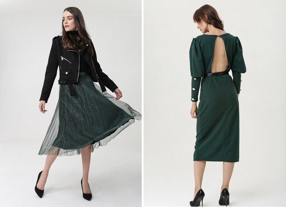 Ubrania w modnym kolorze
