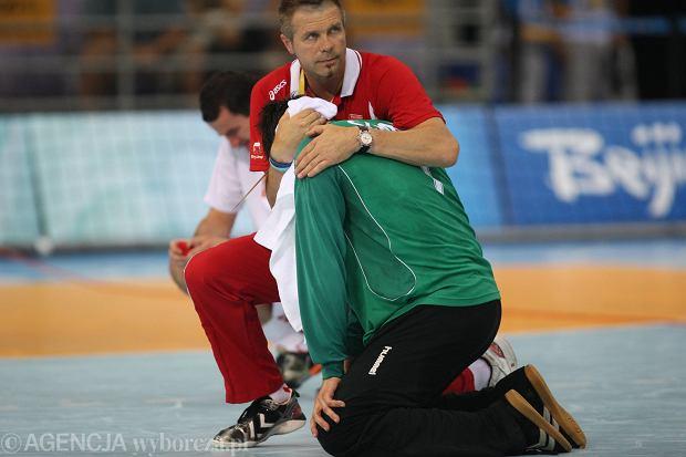 Bogdan Wenta i Sławomir Szmal. Igrzyska olimpijskie Pekin 2008