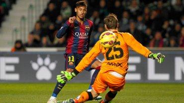 Primera Divison. Elche - Barcelona 0:6