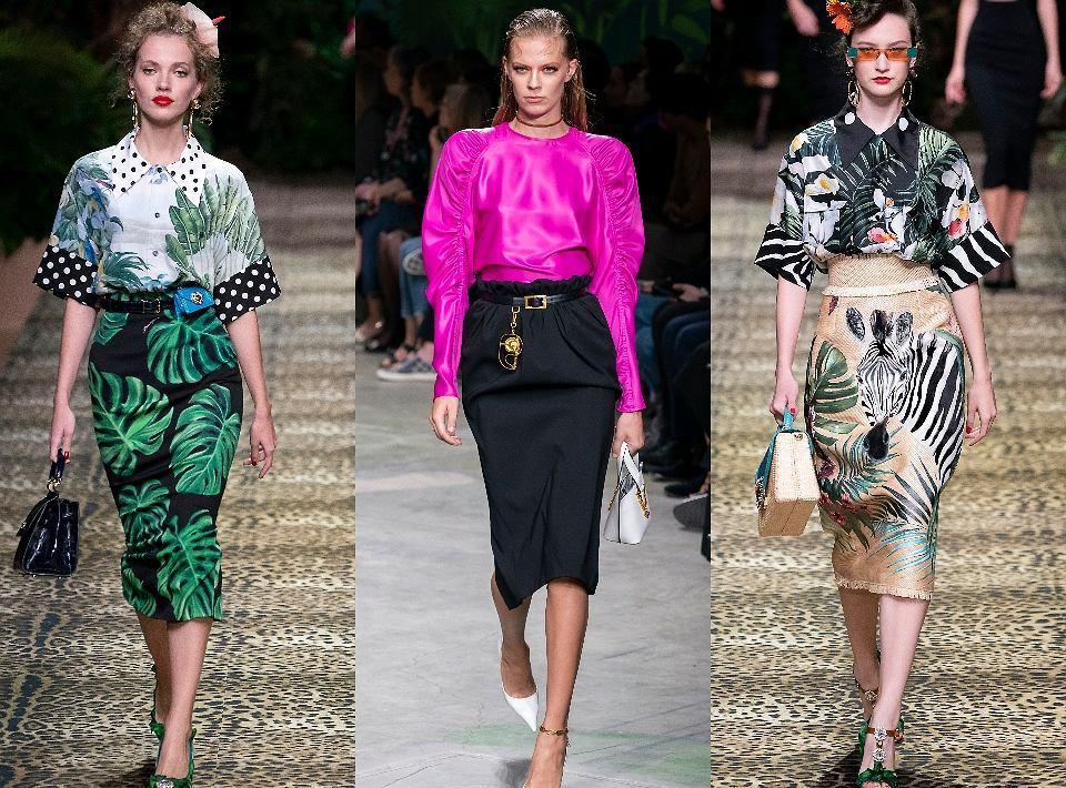 Spódnice ołówkowe na pokazie Dolce&Gabbana i Versace