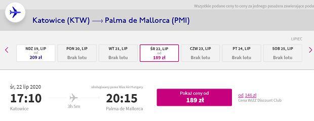 Wizz Air poleci z Polski na Majorkę. Pierwsze rejsy już w czerwcu