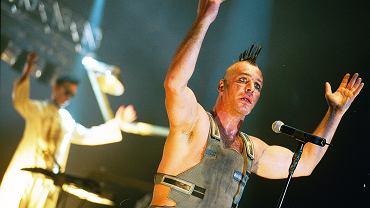 Koncert Rammstein w Spodku w Katowicach. Rok. 2001