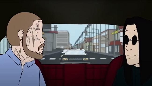 Narkotyczna jazda w animacji Osbourna